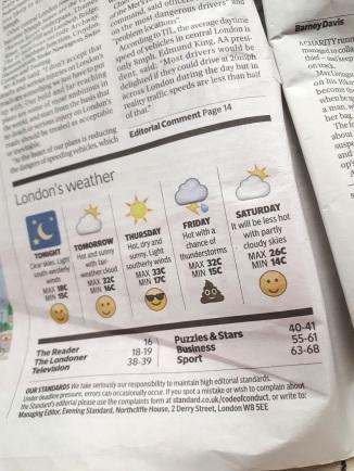 Dit weerbericht in een Engelse krant :'). Friday's just gonna be shite weather...
